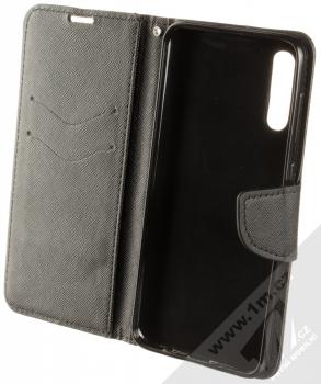 Forcell Fancy Book flipové pouzdro pro Samsung Galaxy A50 černá (black) otevřené