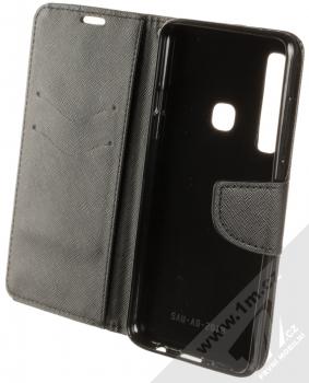 Forcell Fancy Book flipové pouzdro pro Samsung Galaxy A9 (2018) černá (black) otevřené