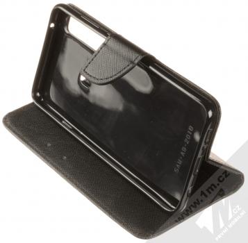 Forcell Fancy Book flipové pouzdro pro Samsung Galaxy A9 (2018) černá (black) stojánek
