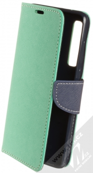 Forcell Fancy Book flipové pouzdro pro Samsung Galaxy A9 (2018) mátově zelená modrá (mint blue)