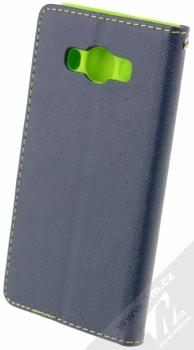 Forcell Fancy Book flipové pouzdro pro Samsung Galaxy J5 (2016) modro limetkově zelená (blue lime) zezadu