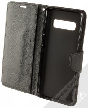 Forcell Fancy Book flipové pouzdro pro Samsung Galaxy S10 Plus černá (black) otevřené