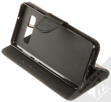 Forcell Fancy Book flipové pouzdro pro Samsung Galaxy S10 Plus černá (black) stojánek