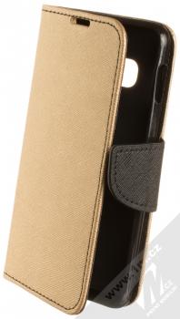 Forcell Fancy Book flipové pouzdro pro Samsung Galaxy S10e zlatá černá (gold black)
