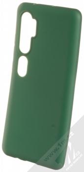 Forcell Jelly Matt Case TPU ochranný silikonový kryt pro Xiaomi Mi Note 10, Mi Note 10 Pro tmavě zelená (forest green)