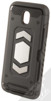 Forcell Magnet odolný ochranný kryt s kapsičkou a kovovým plíškem pro Samsung Galaxy J5 (2017) černá (black)