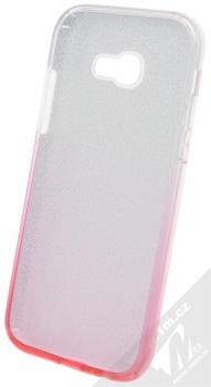 Forcell Shining třpytivý ochranný kryt pro Samsung Galaxy A5 (2017) stříbrná růžová (silver pink) zepředu
