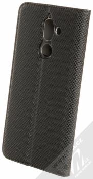 Forcell Smart Book flipové pouzdro pro Nokia 7 Plus černá (black) zezadu