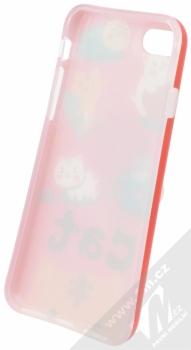 Forcell Squishy ochranný kryt s antistresovou postavičkou pro Apple iPhone 7, iPhone 8 bílá kočička červená (white cat red) zepředu