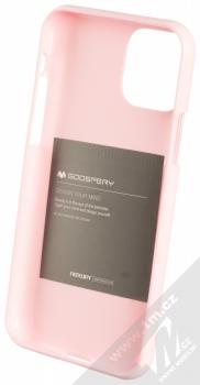 Goospery Jelly Case TPU ochranný silikonový kryt pro Apple iPhone 11 Pro světle růžová (light pink) zepředu