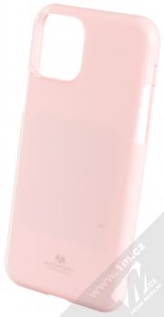 Goospery Jelly Case TPU ochranný silikonový kryt pro Apple iPhone 11 Pro světle růžová (light pink)