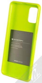Goospery Jelly Case TPU ochranný kryt pro Samsung Galaxy A51 limetkově zelená (lime green) zepředu