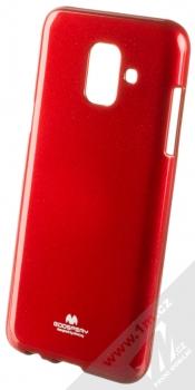 Goospery Jelly Case TPU ochranný silikonový kryt pro Samsung Galaxy A6 (2018) červená (red)