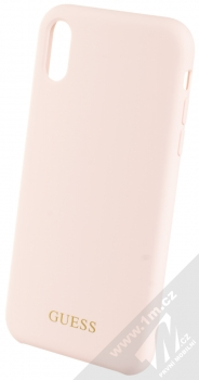 Guess Silicone Logo ochranný kryt pro Apple iPhone XR (GUHCI61LSGLLP) světle růžová (light pink)