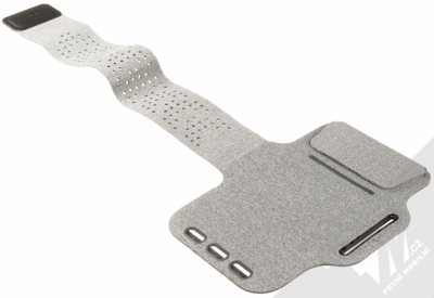 Huawei Fitness Armband originální sportovní pouzdro na paži pro mobilní telefon od 5.2 do 6.0 palců šedá (gray) rozepnuté zezadu