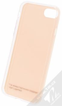 Karl Lagerfeld Choupette Stewart Soft Case ochranný kryt pro Apple iPhone 7 (KLHCP7FLYPI) růžová (pink) zepředu