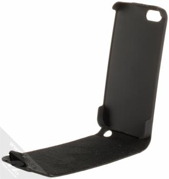 Karl Lagerfeld Grafitti Flip Case flipové pouzdro s motivem pro Apple iPhone 5, iPhone 5S, iPhone SE (KLFLP5GBL) černá (black) otevřené