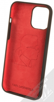 Karl Lagerfeld Silicone Karl Forever ochranný kryt pro Apple iPhone 12 Pro Max (KLHCP12LSILKRBK) černá (black) zepředu