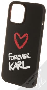 Karl Lagerfeld Silicone Karl Forever ochranný kryt pro Apple iPhone 12 Pro Max (KLHCP12LSILKRBK) černá (black)