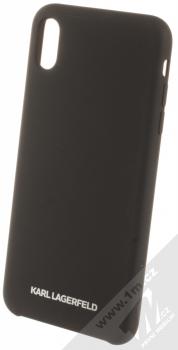 Karl Lagerfeld Silicone Logo ochranný kryt pro Apple iPhone XS Max (KLHCI65SLBKS) černá (black)