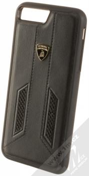 Lamborghini Huracan D6 Leather ochranný kryt z pravé kůže pro Apple iPhone 7 Plus, iPhone 8 Plus (LB-TPUPCIP7P-HU/D6-BK) černá (all black)