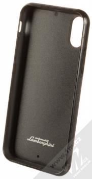 Lamborghini Huracan D6 Leather ochranný kryt z pravé kůže pro Apple iPhone X, iPhone XS (LB-TPUPCIPX-HU/D6-RD) červená černá (red black) zepředu