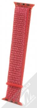 Maikes Nylon Strap textilní pásek na zápěstí pro Apple Watch 38mm, Watch 40mm červená (red)