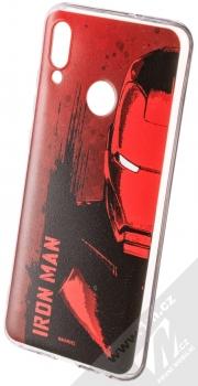 Marvel Iron Man 004 TPU ochranný silikonový kryt s motivem pro Huawei P Smart (2019) červená (red)