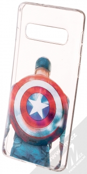 Marvel Kapitán Amerika 002 TPU ochranný silikonový kryt s motivem pro Samsung Galaxy S10 průhledná (transparent)