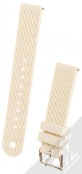 MiJobs Vertical Lines Silicone Wrist Strap silikonový pásek na zápěstí pro Xiaomi Amazfit Bip, Amazfit GTR, Amazfit GTS, Samsung Galaxy Watch 42mm, Galaxy Watch Active, Gear S2 Classic, Gear Sport bílá (white)