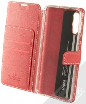 Molan Cano Issue Diary flipové pouzdro pro Samsung Galaxy A70 červená (red) otevřené