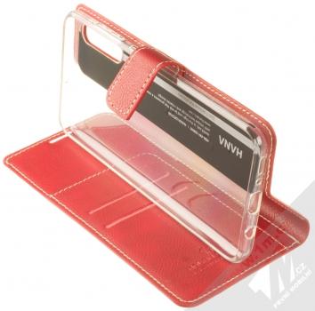 Molan Cano Issue Diary flipové pouzdro pro Samsung Galaxy A70 červená (red) stojánek