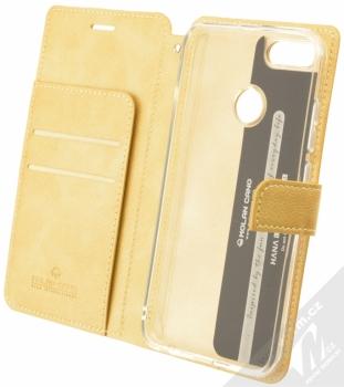 Molan Cano Issue Diary flipové pouzdro pro Xiaomi Mi A1 zlatá (gold) otevřené