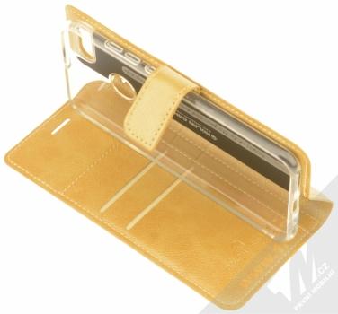 Molan Cano Issue Diary flipové pouzdro pro Xiaomi Mi A1 zlatá (gold) stojánek