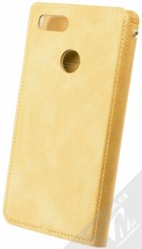 Molan Cano Issue Diary flipové pouzdro pro Xiaomi Mi A1 zlatá (gold) zezadu