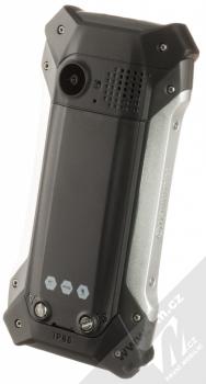 MyPhone Hammer Patriot stříbrná (silver) šikmo zezadu