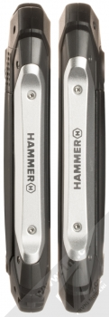 MyPhone Hammer Patriot stříbrná (silver) zboku