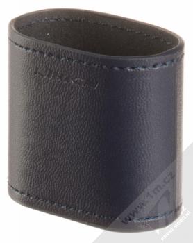 Nillkin Airpods Mate Wireless Charging Case kožené pouzdro s podporou bezdrátového nabíjení pro sluchátka Apple AirPods tmavě modrá (dark blue)