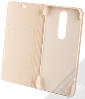 Nokia CP-251 Entertainment Flip Cover originální flipové pouzdro pro Nokia 5.1 Plus béžová (cream) otevřené