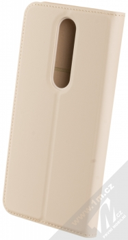 Nokia CP-251 Entertainment Flip Cover originální flipové pouzdro pro Nokia 5.1 Plus béžová (cream) zezadu