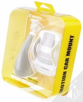 Remax RM-C04 univerzální držák do auta s přísavkou pro mobilní telefon, mobil, smartphone bílo šedá (white grey) krabička