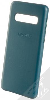 Samsung EF-VG973LG Leather Cover kožený originální ochranný kryt pro Samsung Galaxy S10 zelená (green)
