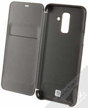 Samsung EF-WA605CB Wallet Cover originální flipové pouzdro pro Samsung Galaxy A6 Plus (2018) černá (black) otevřené