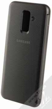 Samsung EF-WA605CB Wallet Cover originální flipové pouzdro pro Samsung Galaxy A6 Plus (2018) černá (black) zezadu