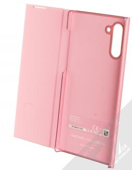 Samsung EF-ZN970CP Clear View Cover originální flipové pouzdro pro Samsung Galaxy Note 10 růžová (pink) otevřené
