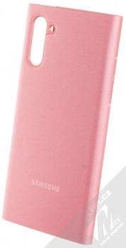 Samsung EF-ZN970CP Clear View Cover originální flipové pouzdro pro Samsung Galaxy Note 10 růžová (pink) zezadu