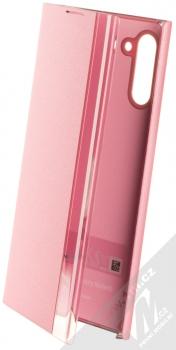 Samsung EF-ZN970CP Clear View Cover originální flipové pouzdro pro Samsung Galaxy Note 10 růžová (pink)