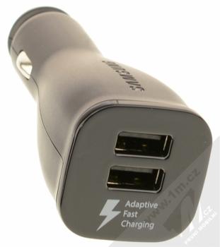 Samsung EP-LN920BB originální nabíječka do auta s USB výstupem a Samsung EP-DG950CB originální USB kabel s USB Type-C černá (black) nabíječka USB konektory