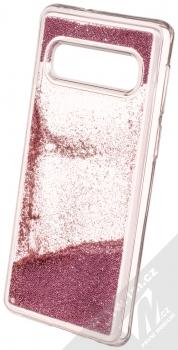 Sligo Liquid Pearl Full ochranný kryt s přesýpacím efektem třpytek pro Samsung Galaxy S10 růžově zlatá (rose gold) animace 4