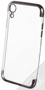 Sligo Plating Soft TPU pokovený ochranný kryt pro Apple iPhone XR černá (black)